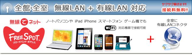 全館無線LAN対応